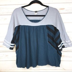 We The Free / Free People Oversized Colorblock Top